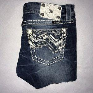 Miss Me Embellished Cut Off Jean Shorts 30